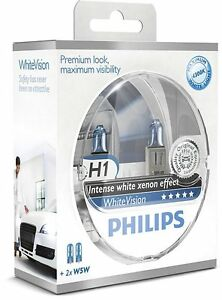 2-AMPOULES-H1-PHILIPS-WHITEVISION-XENON-EFFECT-VW-GOLF-3-GOLF-4