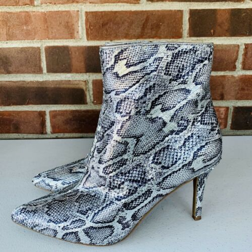 Nordstrom BP snake print embossed high heel ankle