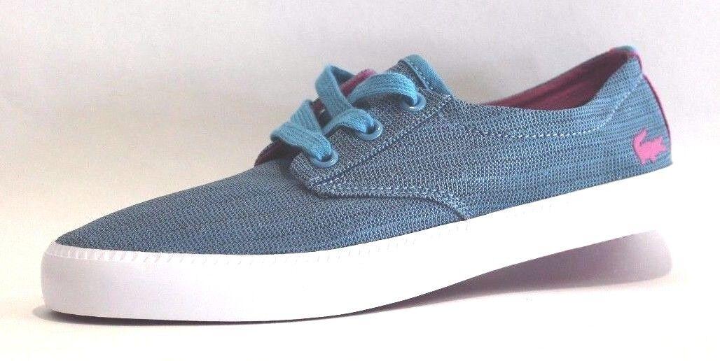 Lacoste Women's Malahini RH Fashion Sneaker, Blue/Dark Pink, Size 6 M US.