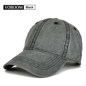 Vintage Black Trucker Hat Baseball Cap Cotton Mens Distressed Caps ... 77b60ba9ba6