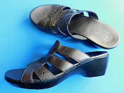 Clarks Bendables Metallic Gray Silver Slip On Sandals Size 8 M 60491 | eBay