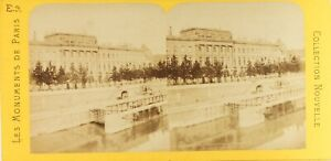 Francia Parigi Museo Da La Moneta, Foto PL61L10 Stereo Albumina Ca 1868
