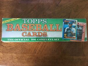Details About 1990 Topps Factory Baseball Card Complete Set With 792 Cards Factory Sealed