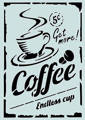 **A4****für Stoffe Kaffee Möbel usw.- ** Nr.: 943 Schablone**