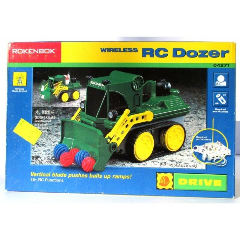 ROKENBOK Sistema Wireless RC DOZER 04271,verdeical blade empuja bolas up