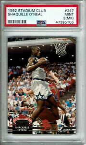 1992 Stadium Club Basketball Shaquille O'Neal ROOKIE RC #247 PSA 9 MINT