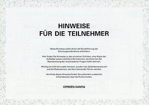 Anleitungen & Handbücher Prospekt 1992 Citroen Citroën Xantia Hinweise Schulungsmaterial Verkäufer Auto Ein GefüHl Der Leichtigkeit Und Energie Erzeugen