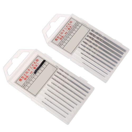 10Pcs//Box Mini Drill HSS Bit 0.8mm-3.0mm Straight Shank PCB Twist Drill Bits SSU