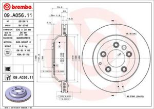 2 x BREMBO Bremsscheibe HA für Audi Q7,Por. Cayenne,VW Touareg Nr. 09.A056.11