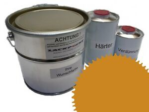 1,5 Liter Set 2K Floor Coating Ral 1005 Honey Yellow Shine Floor Color Workshop