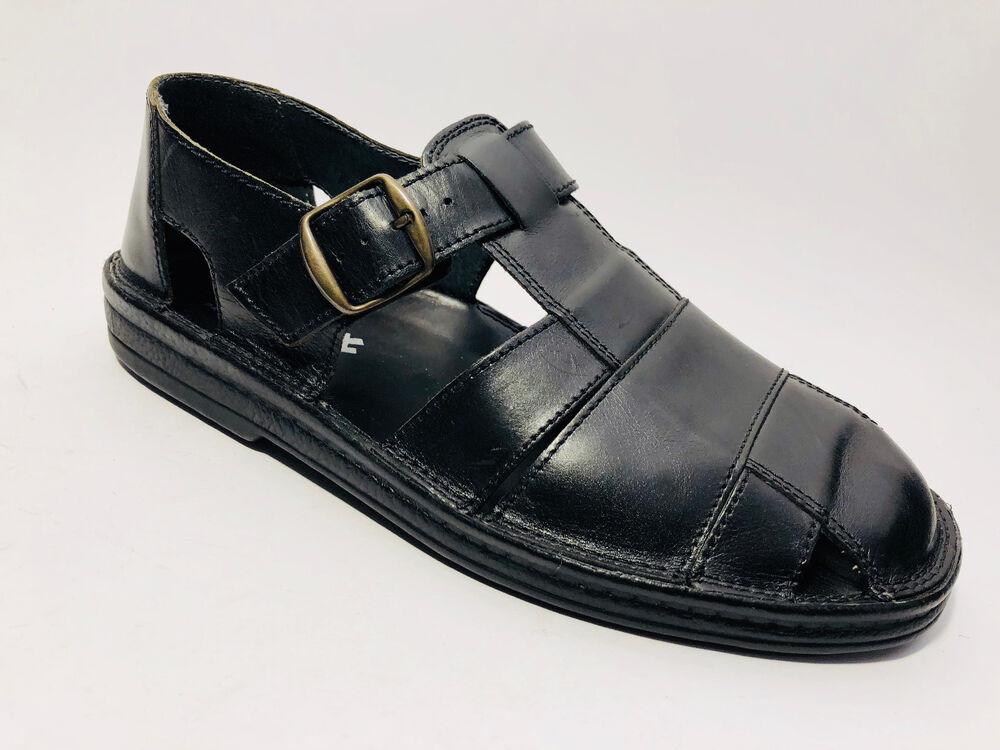 Sioux Chaussures Hommes Cuir Sandales 47,5 (t 12,5) Noir Largeur G à Bulles Pure Blancheur