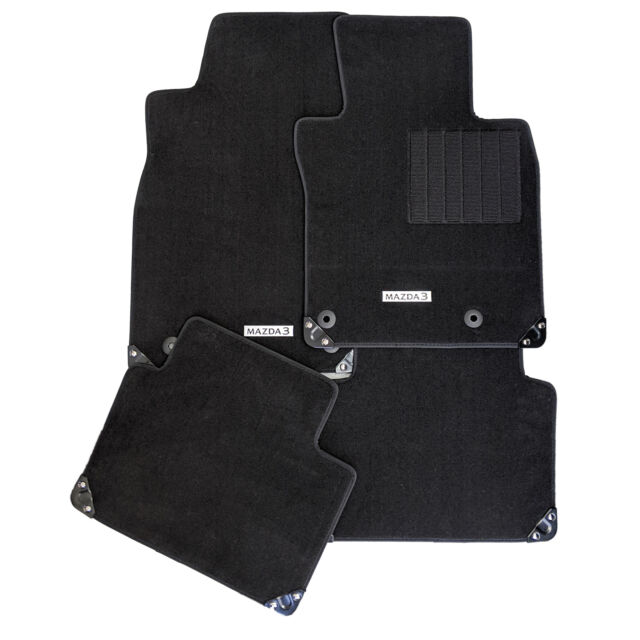 New Genuine Mazda 3 BP 2019 Carpet Floor Mats Set Black Accessory Part BP11ACFM