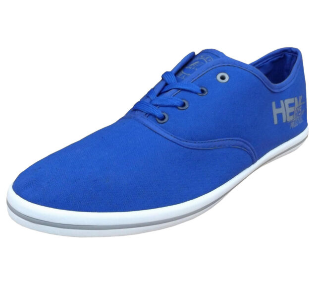 Henleys Men's Josh  Canvas Fashion Shoes Trainers Pumps Plimsolls blue / grey