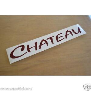 LUNAR Chateau CUT VINYL Rear Roof Caravan Sticker Decal - Graphics for caravanscaravan stickers ebay