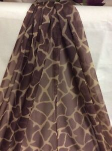 10m Brown Giraffe Print Voile Fabric FREE POSTAGE - <span itemprop=availableAtOrFrom>Haverfordwest, United Kingdom</span> - 10m Brown Giraffe Print Voile Fabric FREE POSTAGE - Haverfordwest, United Kingdom
