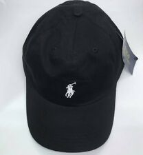 3722da313b8 Adults One Size Ralph Lauren Polo Baseball Cap Black with White Pony Free  Post