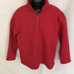 7d74d5ee Tommy Hilfiger Sweatshirt Mens 1/4 Zip Pullover Sz L Red LS Logo ...