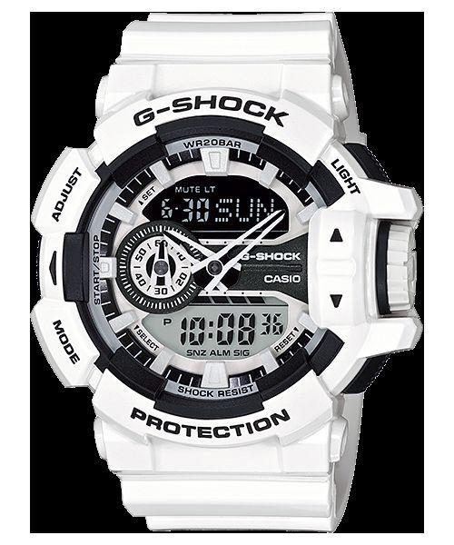 GA-400-7A Weiß G-Shock 200m Digital Resin Band 200m Casio Sport Herren Neu