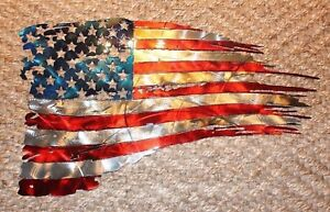 Patriotic-Tattered-amp-Torn-amp-Distressed-American-Flag-Wall-Art-22-1-2-034-x-13-034