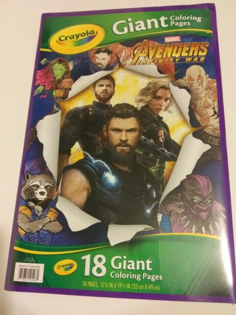 """*Avengers* """"Infinity War"""" Marvel 18 Giant Coloring Pages ..."""