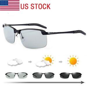 5d09e24d09 Image is loading Men-Polarized-Photochromic-Sunglasses-UV400-Driving- Transition-Lens-