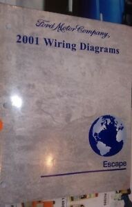 2001 Ford Escape Factory WIRING DIAGRAMS Manual | eBay