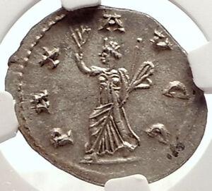Ancient Roman Imperial Coin. Rome Mint Aggressive Gallienus Silver Antoninianus