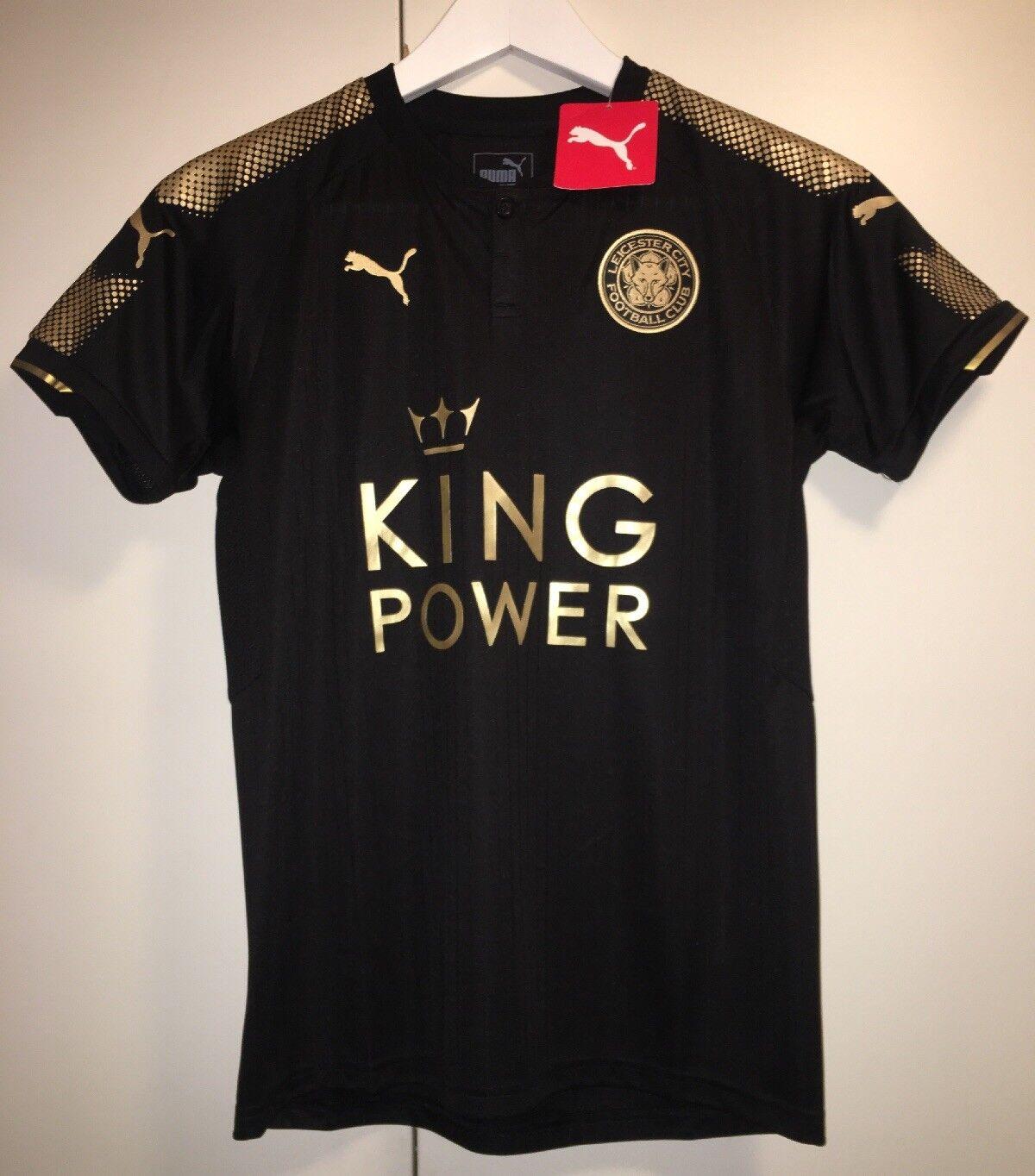 Leicester City Auswärts Trikot PUMA Schwarz Gold NEU 164