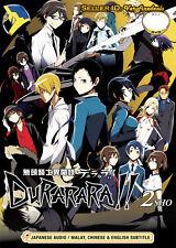 Durarara!! × 2 Sho DVD Complete Season 2 (1-12) - Anime  English Sub  US Seller