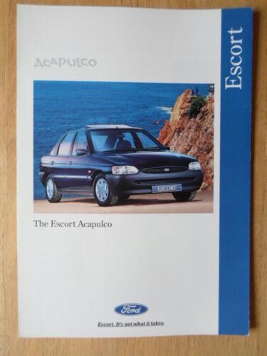 FORD ESCORT ACAPULCO ORIG 1995 UK inchiostri SALES BROCHURE