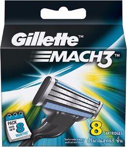 Gillette-Mach-3-Cartridges-8-12-16-24-36-Razor-Blades-Shaving-Genuine-Mach3