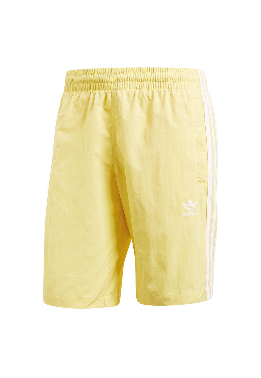 Adidas Originals Men's Bathing Trunks 3 Stripes Swim cw1307 Yellow