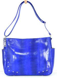 hobo 8111164787125 sac à 100cuir serpent fentes bleu main w2 tote sac véritable nouveau IE2WHD9