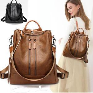 dc2da4ce0070 HOT Women Ladies Real Soft Leather Shoulder Bags Backpack Handbag ...