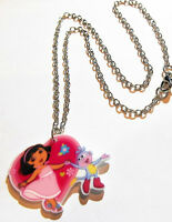Nick Jr. Dora And Boots Lucite Pendant(1 1/2x 1) On 16 Inch Chain