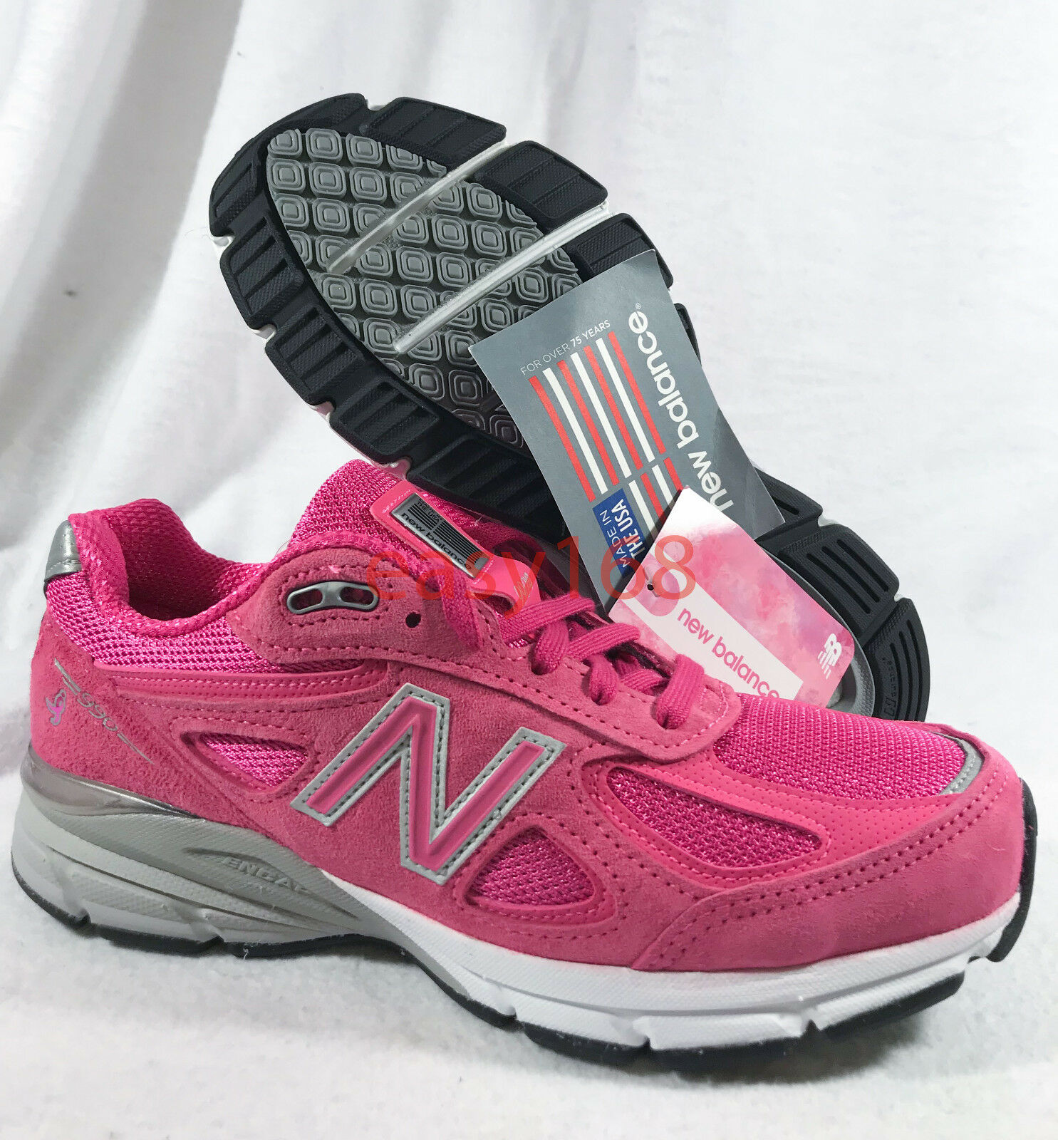 New New Balance 990 V4 Sz 7.5 WMNS W990KM4 NB Classic Made in USA Suede Pink 38