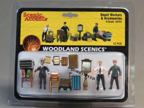 WOODLAND SCENICS DEPOT WORKERS FIGURES ACCESSORIES O GAUGE train people WDS2757