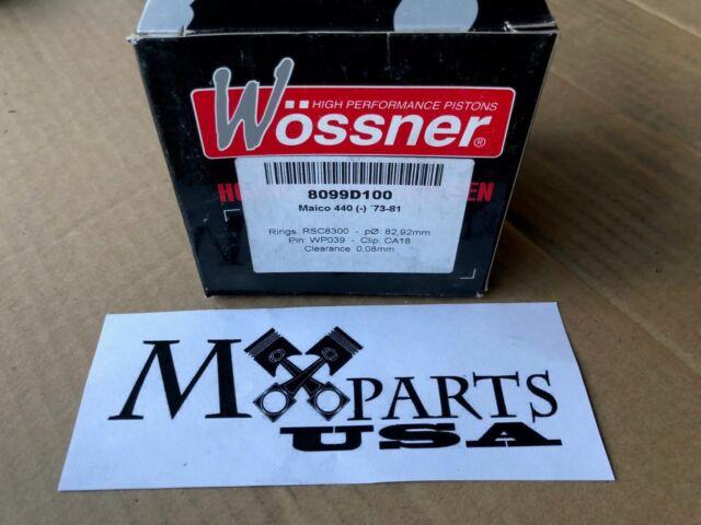 NEW WOSSNER PISTON KIT 1973-1981 MAICO MC440 MD440 82.92mm OVER BORE 1.00mm