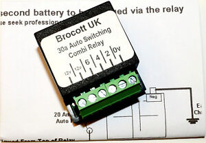 MOTOR-HOME-SELF-SWITCHING-VOLTAGE-SENSING-SPLIT-CHARGE-RELAY-12V-30-AMP