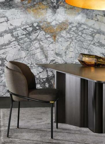 Sessel Metall Design Polster Lounge Club Stuhl Sitz Relax Luxus Zimmer Stoff Neu