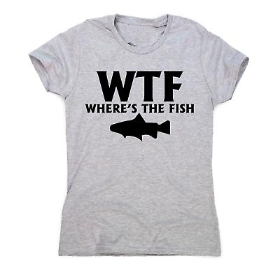 WTF where/'s the fish funny slogan  t shirt  Fisherman Gift men/'s Shirt top