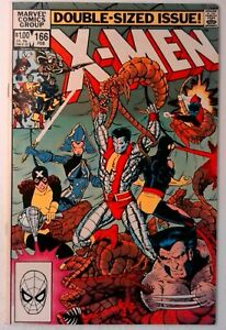 Uncanny-X-Men-166-Marvel-1983-VF-Comic-Book-Key-1st-Appearance-Lockheed