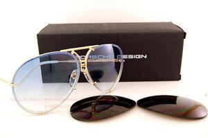3f133da3e0e76 Image is loading New-Porsche-Design-Sunglasses-8478-W-Gold-Interchangeable-