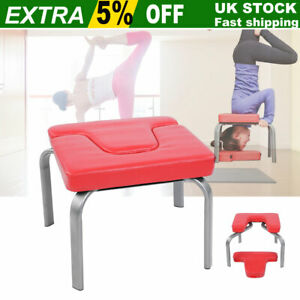 Yoga-Inversion-Chair-Prop-Headstand-Bench-Exercise-Stool-PU-Leather-Workbench