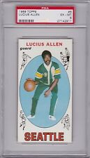 1969 Topps #6 LUCIUS ALLEN (RC) PSA 6 ex/mt Seattle SUPER SONICS UCLA centered