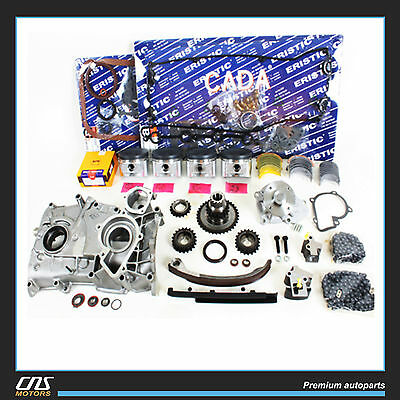 Overhaul Engine Rebuild Kit Fit 91-94 Nissan 240SX 2.4L DOHC KA24DE