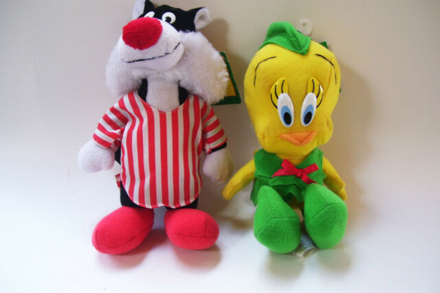 1992 McDonalds Christmas Ornament Sylvester and Tweety Looney Tunes Plush