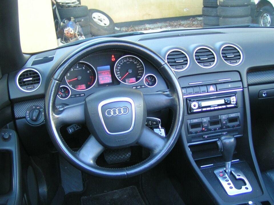 Audi A4 2,0 TFSi Cabriolet Multitr. Benzin aut. modelår
