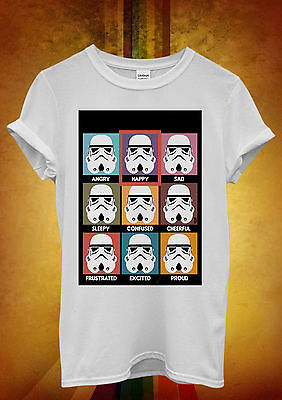Kompetent Star Wars Many Moods Of Storm Trooper Men Women Unisex T Shirt Tank Top Vest 20 Hochwertige Materialien