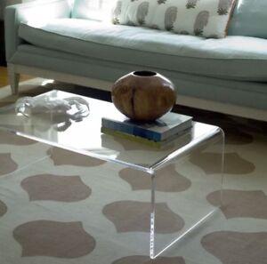 Tavolini Da Salotto Plexiglass.Dettagli Su Tavolino Trasparente Lucido Brillante In Plexiglass Da Salotto 85x50 H 35 Cm